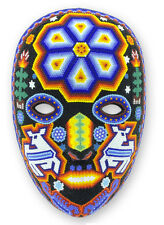 Huichol Indian Mask Wall Art Hand Beaded Shaman Deer God's Messenger NOVICA