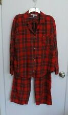 Victoria's Secret size large red plaid pajama set- excellent!