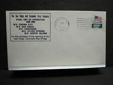 SAN DIEGO & CORONADO FERRY Co Naval Cover 1969 MV CROWN CITY, SILVER STRAND