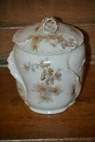 Antique Limoges William Guerin Hand Painted Porcelain Biscuit or Cracker Jar