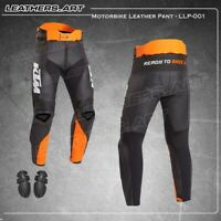 Ktm Men Motorcycle motorbike racing leather Pant  LLP-001 (USA 38-48)