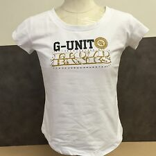 NEW, Genuine G-unit Women's T-shirts White Cotton Size Extra-Large MSRP-$38.50