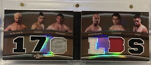 2010 Topps UFC Triple Threads 170LBS Welterweight Booklet Diaz Hughes Condit