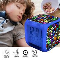 Fortnite Game TPS Color Changer LED Night light Digital Alarm Clock Toy C034#6 E