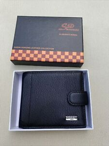 New In Box Black Leather Wallet Mens