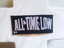 All Time Low Pop Rock Power Punk Black Music Embroidered Iron On Patches Patch