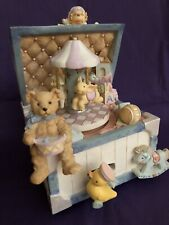 San Francisco Music Box Company Animated Toy Chest Plays Toyland Tune No Box