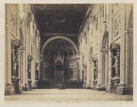 Roma Italia Eglise San Giovanni Interno Foto Vintage Albumina c1880