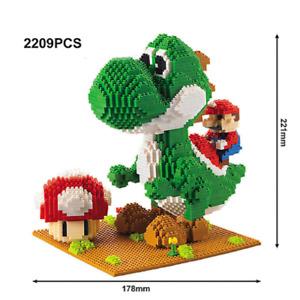 Mario Riding Yoshi Super Mario Brothers SMB Nintendo Nanoblock 3D Puzzle 2209 Ps