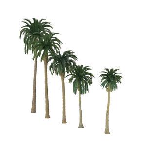 Modell-Palmen f/ür Modellbau-Landschaft IPOTCH K/ünstliche Miniatur-Kokospalmen