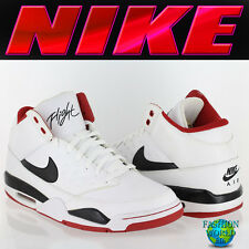 Nike Men's Size 8 Air Flight Classic Basketball Shoes 414967 White/Black/Red