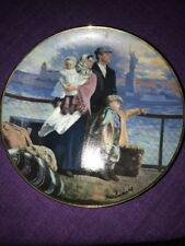 "Ellis Island Plate ""Gateway to America"" 1991 by Max Ginsburg"
