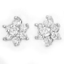 0.50 CTW Certified VS/SI Diamond Earrings 18K White Gold - REF-43X3R... Lot 3438