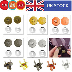 14mm/18mm Magnetic Snap Fasteners Washers Closure Clasps for DIY Leathercrafts