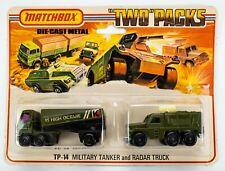 1977 Matchbox Two Packs TP-14 Military Tanker and Radar Truck OLIVE GREEN