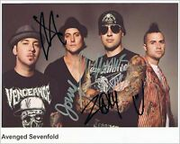 Avenged Sevenfold #2   8 x 10 Autograph Reprint M.Shadows The Rev Johnny Christ