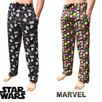 Mens Comics Lounge Pants Novelty Character Pyjamas Nightwear Marvel Star Wars