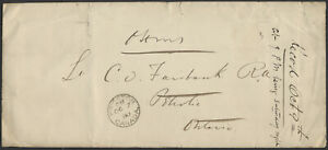1880 Royal Military College Oval on Cover to Petrolea Ont, MISSENT-TO Ottawa