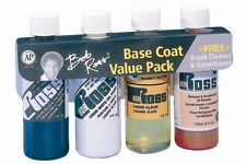 BOB ROSS LIQUID WHITE, BLACK, CLEAR, VALUE PACK with FREE BRUSH CONDITIONER
