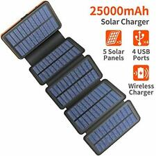AddAcc Solar Charger 25000mAh Portable Power Bank Waterproof and Shockproof with