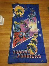 Vintage 1984 G1 Optimus Prime Transformers Small Sleeping Bag Hasbro