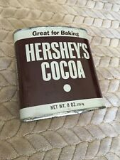 """Vintage Hershey's Cocoa Metal Tin 8 oz Size EMPTY w/""""kitchen tested recipes"""""""