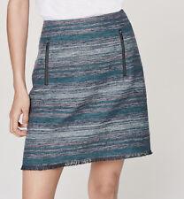 NWT Ann Taylor LOFT Striped Tweed Skirt Size 4