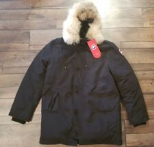 New Canada Goose Expedition Parka Men's Black With Tags With Fur