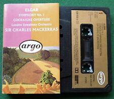 Elgar Symphony No 1 Cockaigne Overture LSO Mackerras Cassette Tape - TESTED