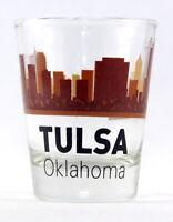 TULSA OKLAHOMA SUNSET SKYLINE SHOT GLASS SHOTGLASS