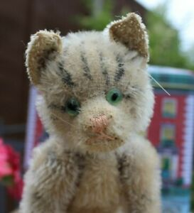 Fully jointed antique Steiff mechanical tabby cat c1931