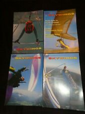 3 SKYWINGS Magazines 1994 - 1995 BRITISH HANG GLIDING PARAGLIDING ASSOCIATION
