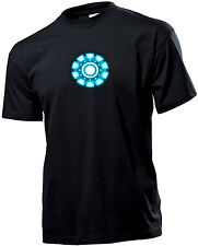 TSHIRT UOMO iron man arc reactor divertente REGALO 2017 NO HAPPINESS