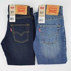 Boys Size 5 Levi's 511 Jeans; Adjustable Waist;  Dark or Medium Wash; Slim Fit