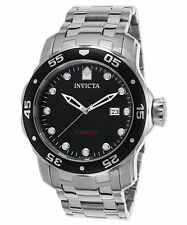 Invicta Men's 'Pro Diver' Automatic Black Dial Date Stainless Steel Watch 23630