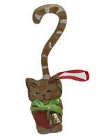 Vintage 1991 Cat Wood Ornament Kurt Adler Kitten Bell Heart Christmas