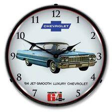 "14"" Double Bubble 1964 Chevrolet Impala Smooth BackLit Garage Clock GM1701705"