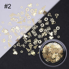 Christmas Snowflake Nail Art Tips Gold Manicure Decoration Tools Metal  Designs