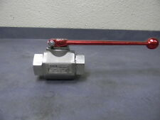 "Hydac 3/4"" Stainless Steel Standard Ball Valve w/ Floating Ball #02064481"