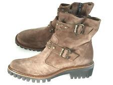 Paul Green Boots Stiefeletten Wildleder braun Nieten Gr. 7-41