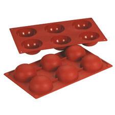 AZ boutique  Moule demi-sphère | Moule flexible en silicone Bake flex - 6 demi-s