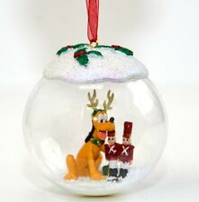 Disney Pluto Christmas Bauble Ornament, Disneyland Paris Original        N:2715