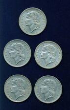 FRANCE REPUBLIC 5 FRANCS COINS: 1947 (OPEN 9),1949,1950