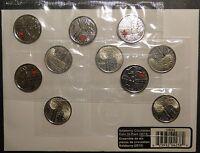 2013 Canada de Salaberry 25 cent Circulation 10-pack coin coloured quarter 1812