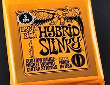 3 sets Ernie Ball Hybrid Slinky 9-46 3222 Electric Guitar Strings