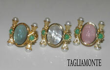 TAGLIAMONTE*Column Ring*CHOICE*YGP/925*DIANA Venetian Cameo+MOP+Pearl+Aventurine
