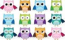 Owls Bedroom wall / toy box stickers Vinyl Baby Nursery Childrens Window  zoo