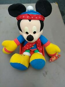 """Mickey Mouse Plush 70th Birthday Special Edition Toy Mattel  17""""  Winter Theme"""