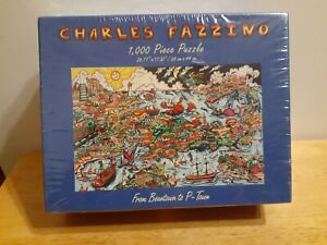 Charles Fazzino 'From Beantown To P-Town' 1000 Piece Puzzle Sealed Rare New