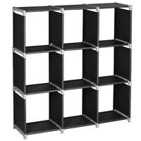 Storage Cube Closet Home 3 Tier Organizer Shelf 9-Cells Bookcase Storage Cabinet